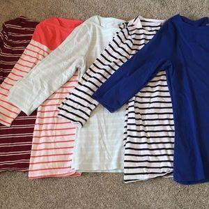 Lot of Merona Boatneck Shirts